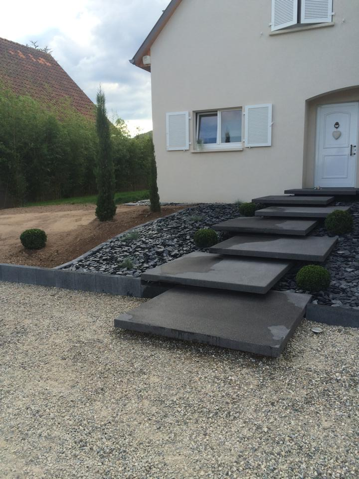 Am nagement ext rieur terrassement travaux publics for Amenagement escalier exterieur maison
